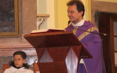 Lelkigyakorlat és ministráns avatás Ruskó Norbi atyával
