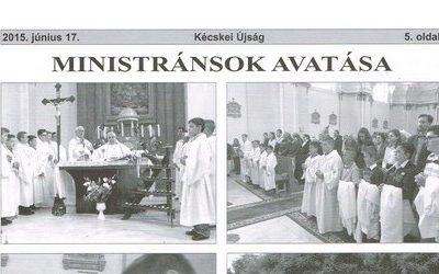 Ministránsok avatása