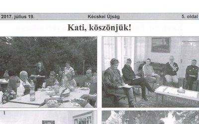 Kati, köszönjük!