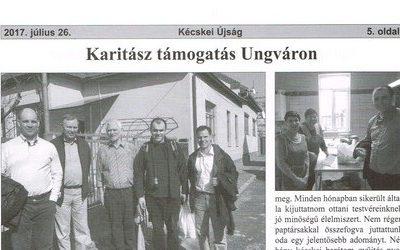 Karitász támogatás Ungváron