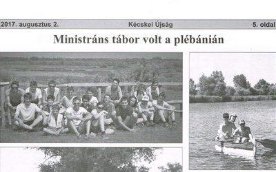 Ministráns tábor volt a plébánián