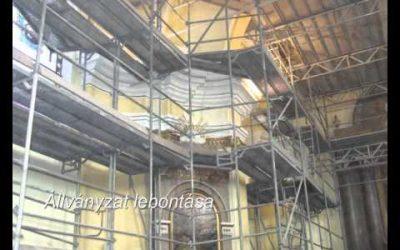 A templom belső felújítása