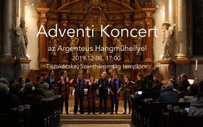 Adventi koncerted ad az Argenteus Hangműhely