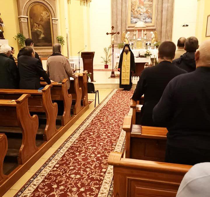 Görögkatolikus vecsernyét végeztek templomunkban