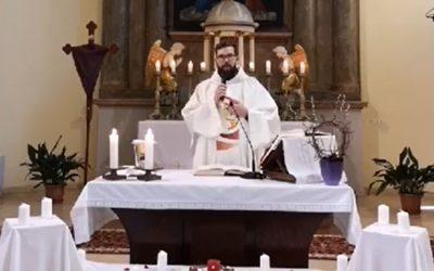 Online szentmise-közvetítés 2020. április 9. Nagycsütörtök