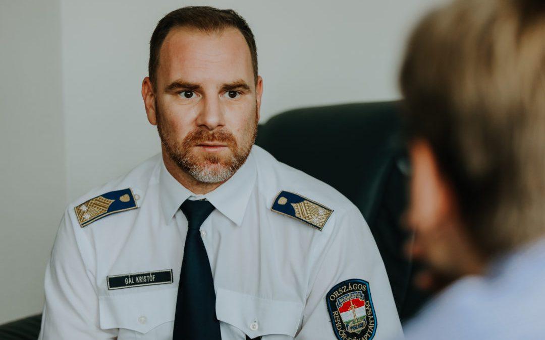 Gál Kristóf, az ORFK szóvivőjének tanúságtétele