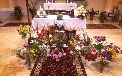 Virágszentelést is tartottunk Nagyboldogasszony ünnepén