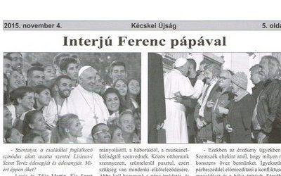 Interjú Ferenc pápával