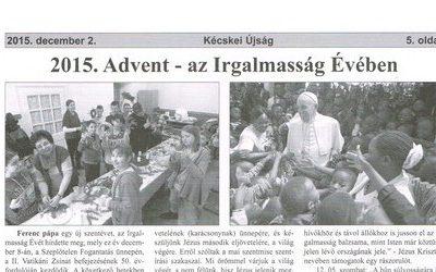 2015. Advent – az Irgalmasság Évében