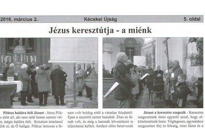 Jézus keresztútja – a miénk