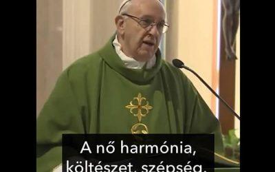 Ferenc pápa szavaival kívánunk Isten áldásában gazdag, boldog Nőnapot minden kedves hölgynek!