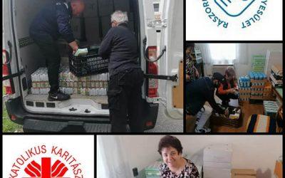 A Rászoruló Magyarokért Egyesület segítette plébánia Karitász-csoportunk munkáját