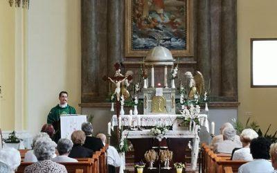 Újmisés pap tartott szentmisét templomunkban